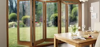 solid oak folding doors