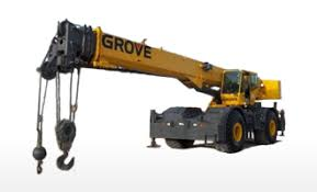 Grove Rt760 Load Chart Mobilift Rough Terrain Crane 55 Ton