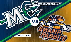 Swamp Rabbit Hockey Seating Chart Maine Mariners Vs Greenville Swamp Rabbits The Cross