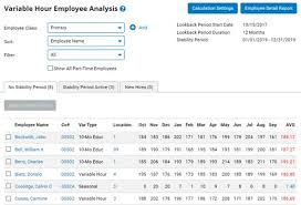 Variable Hour Employee Analysis