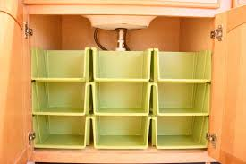 Under Kitchen Sink Organizing The Orderly Home Bathroom Cabinet Organization