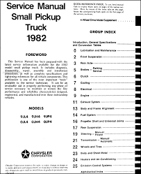1982 dodge ram 50 plymouth arrow truck repair shop manual original this manual covers all 1982 dodge ram 50 and plymouth arrow pickup models including custom royal sport 2 wheel drive and 4 wheel drive