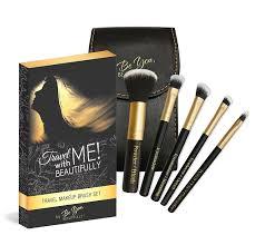 best professional makeup brush set. amazon.com: best 5 piece travel makeup brush set plus bonus compact mirror case: beauty best professional