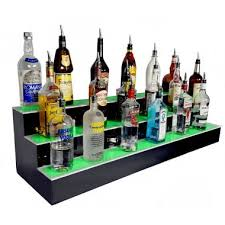 led liquor shelves bottle displays