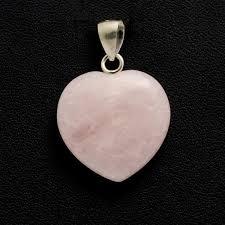 rose quartz crystal heart pendant 1