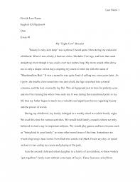 Autobiographical Narrative Essay Example Examples Different