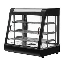 suncoo 25 commercial countertop food warmer display case for restaurant heated cabinet pizza empanda pastry patty