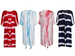 Womens Dip Dye Kaftan Kimono Tunic Top Beach Sarong Jacket Cover