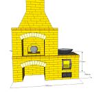 Уличная печь из кирпича порядовка
