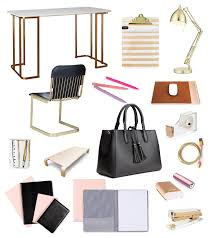 feminine office accessories. gold desktop accessories modern girl office hers desk girly feminine