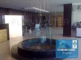 round string water curtain fountain