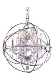 elegant orb chandelier for your home lighting idea modern 5 light crystal orb chandelier polished