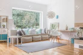 Window For Living Room Cozy Bright Living Room And Big Window Stock Photo Picture And
