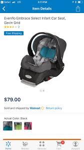 evenflo embrace 35 car seat with base