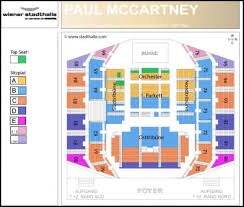 Seating Chart For Paul Mccartney Stadthalle Vienna Paul Mccartney Guide To Seating Plan 2018