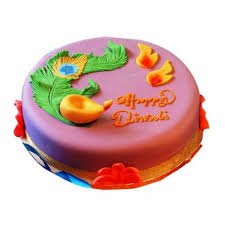 Buy Ferns N Petals Diwali Gifts Beautiful Deepavali Cake 1kg