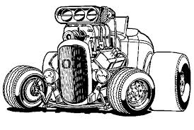 Small Picture Hot wheels coloring pages big hotrod car ColoringStar