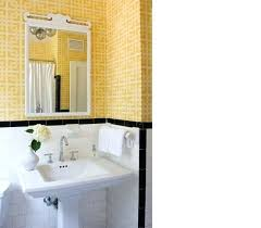 1940 Bathroom Design Unique 48s Bathroom How To Update Style Tile Use A Bright Wallpaper Print
