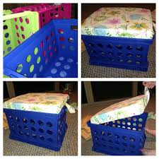 diy classroom milk crate stools with storage space students have a place to sit