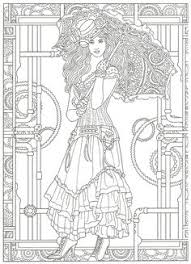 steunk coloring artwork by marty le creative haven steunk fashions coloring book