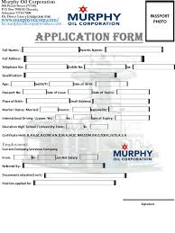 Admission Form For School Amazing Murphy Oil Corporation Job Application Form USA