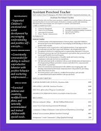 Sample Resume For Nursery School Teacher In India New Ideas