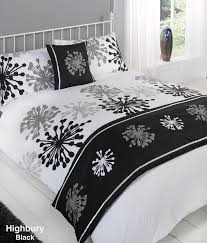 white duvet duvet cover with pillow case quilt bedding set bed in a bag double for black and