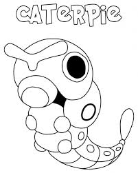 Disegno Di Caterpie Da Colorare Gratis Pokemon