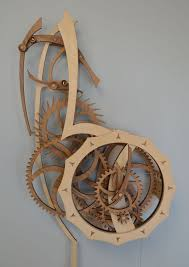 tranquility wooden gear clock