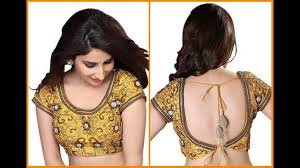 Saree Blouse Designs Front And Back 2017 Latest Blouse Back Neck Designs