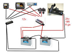 wiring diagram for 12 24 volt trolling motor images 24 volt battery bank on 12 volt minn kota trolling motor wiring