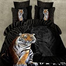 wongs bedding brand 3d cartoon bedding sets tiger animal duvet cover black bedlinen bedclothes double queen