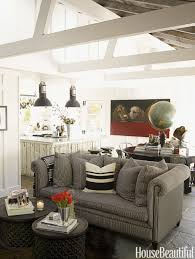Styling Living Room Living Room White Shelves Gray Sofa Gray Recliners Brown Chairs