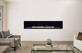 vfll72 glass roomscene lg boulevard 72 inch linear fireplace with black reflective glass