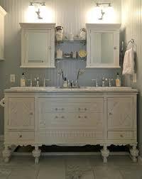 vintage bathroom vanity mirror. Antique Bathroom Vanity Vintage Eclectic With Bead Board Blue Cabinet White Mirror