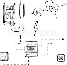 Electrical wiring diagram spectacular of digital voltmeter spectacular of digital voltmeter electricity meter with socket and