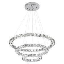 glam 3 ring led pendant