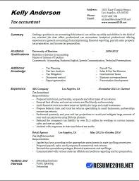 Simple Resume Template 2018 Best Accountant Resume Templates Colbroco