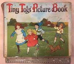 vtg rare victorian childrens tiny tots picture book ernest nister london board