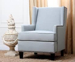 amazing light blue accent chair abson living lorena fabric nailhead trim light blue armchair