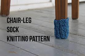 knitting a chair leg sock free pattern