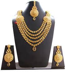 Latest Gold Sets Designs In India Amazon Com Designer India Wedding Bridal Long Gold Necklace