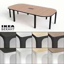 office tables ikea. Incredible IKEA Conference Table With 3d Models Office Furniture Ikea Bekant Tables R