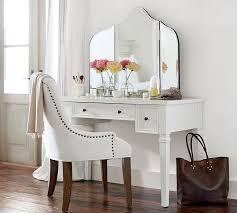 Vanity table Bathroom Pottery Barn Meredith Vanity Desk Pottery Barn