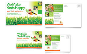 lawncare ad lawn maintenance postcard template word publisher