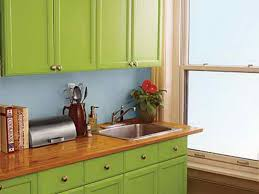 green painting kitchen cabinets