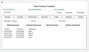 microsoft employee schedule template free employee schedule maker excel database template