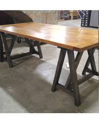 Image Small Rustic Desk Industrial Desk Loft Style Table Sawhorse Wood Desk Kitchen Table Better Homes And Gardens Amazing New Deals On Rustic Desk Industrial Desk Loft Style Table