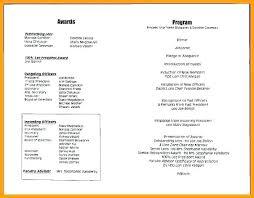 Banquet Program Examples Banquet Program Template Atlasapp Co