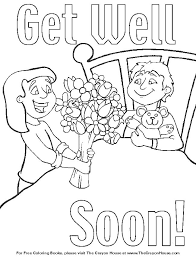 Get Well Soon Coloring Page Free Download